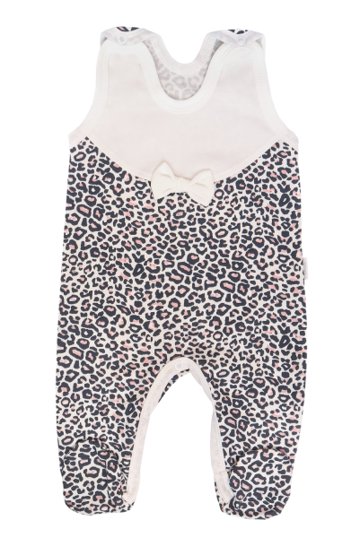 Mamatti Dojčenské dupačky Gepardík, biele se vzorom, veľ. 56