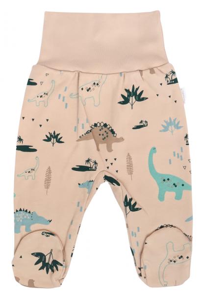 Mamatti Dojčenské polodupačky Dinosaurus, krémové s potľačou-#Velikost koj. oblečení;50 (0-1m)