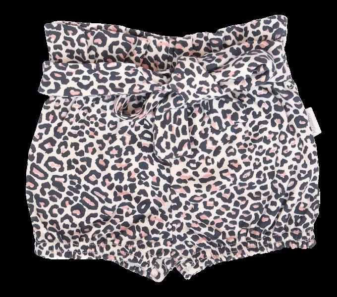 Mamatti Bavlnené kraťasky s ozdobným pásikom, Gepardík, vzorované
