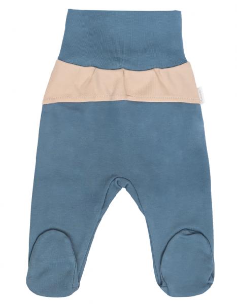 Mamatti Dojčenské polodupačky Dinosaurus, modré, veľ. 74-#Velikost koj. oblečení;74 (6-9m)
