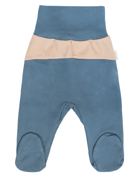 Mamatti Dojčenské polodupačky Dinosaurus, modré, veľ. 80-#Velikost koj. oblečení;80 (9-12m)