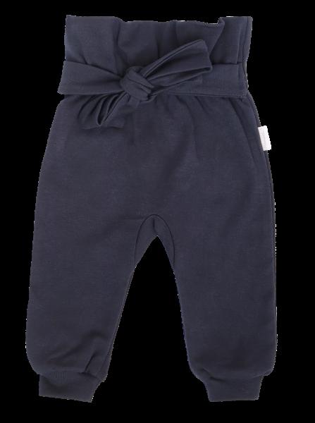 Mamatti Dojčenské tepláčky s ozdobným pásikom, Gepardík, granátové, veľ. 92-#Velikost koj. oblečení;92 (18-24m)