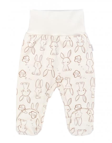 Mamatti Dojčenské polodupačky Zajačik - krémové s potlačou, veľ. 74-#Velikost koj. oblečení;74 (6-9m)