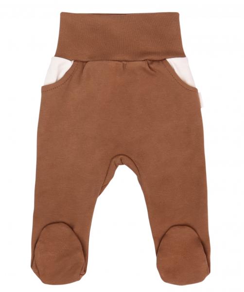 Mamatti Dojčenské polodupačky Zajačik - hnedá, veľ. 80-#Velikost koj. oblečení;80 (9-12m)
