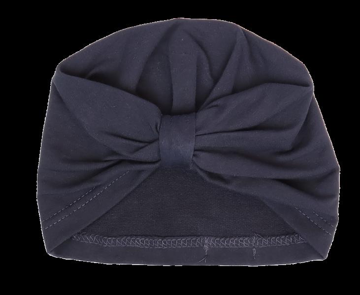 Mamatti Bavlnená detská čiapka, turban, Gepardík, granátová