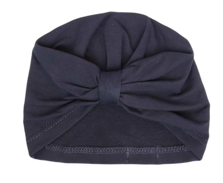 Mamatti Bavlnená detská čiapka, turban, Gepardík, granátová, veľ. 2 - 3 roky