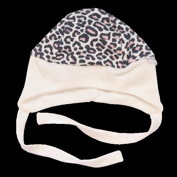 Mamatti Čiapočka na zaväzovanie Gepardík, biela vzorovaná, veľ. 68