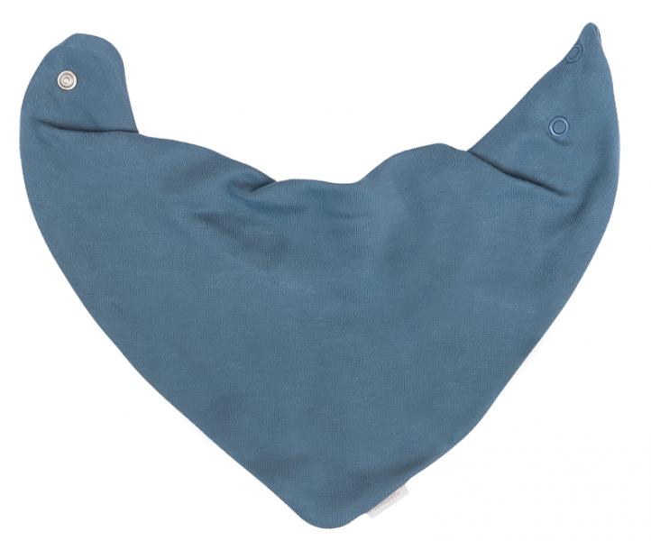 Mamatti Dětský šátek na krk Dinosaurus, modrý