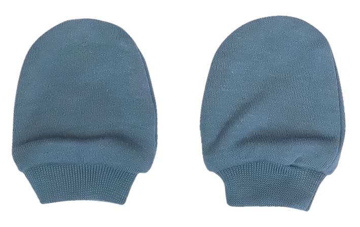 Mamatti Dojčenské rukavičky Dinosaurus, modré