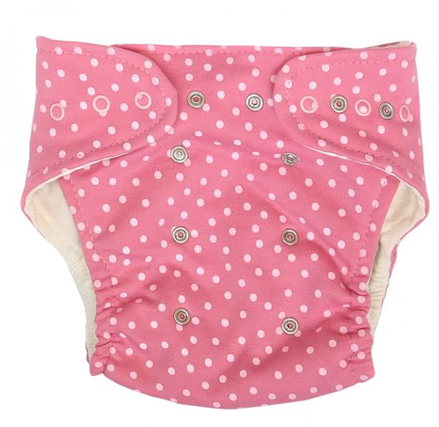 Mamatti Látková plienka EKO sada - nohavičky + 2 x plienka, Princezna Bodka růžová