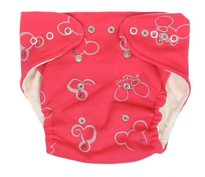 Mamatti Látková plienka EKO sada - nohavičky + 2 x plienka, Myška, veľ. 3 - 8 kg, červená