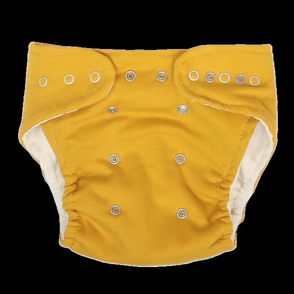 Mamatti Látková plienka EKO sada - nohavičky + 2 x plienka, Mýval, veľ. 5-14 kg horčicová