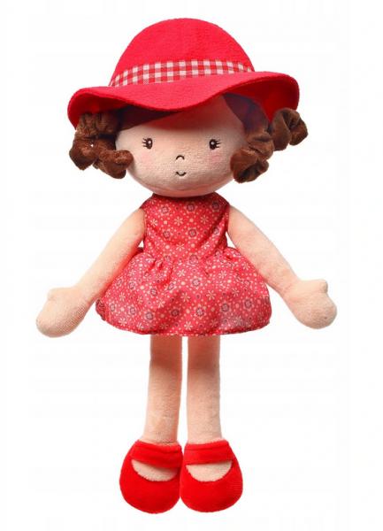 Handrová bábika BabyOno Poppy Doll, červená