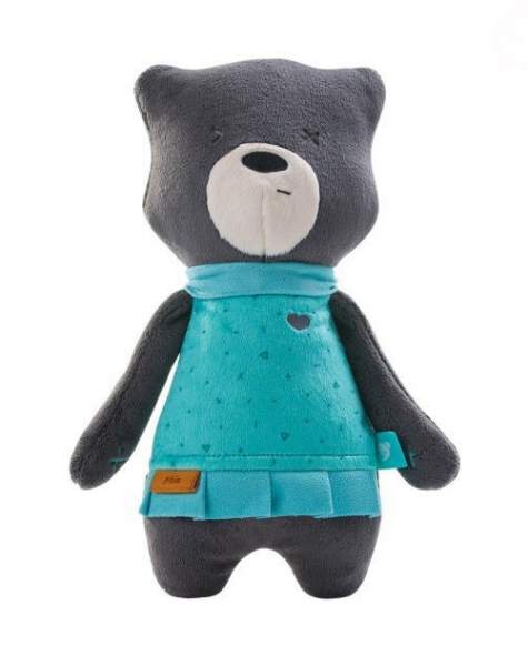 Szumisie šumiace maznáčik Medvedík Mia, 31 cm, grafitový