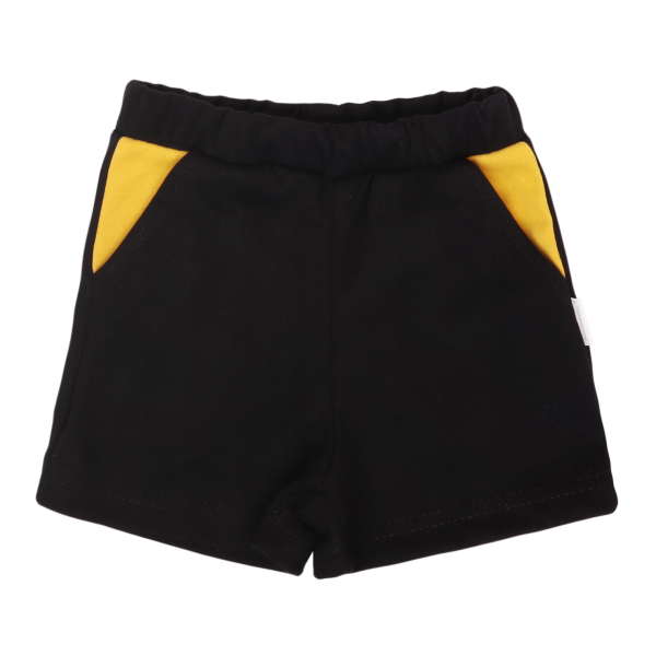 Mamatti Bavlnené kraťasky Mýval - čierne, veľ. 80-#Velikost koj. oblečení;80 (9-12m)