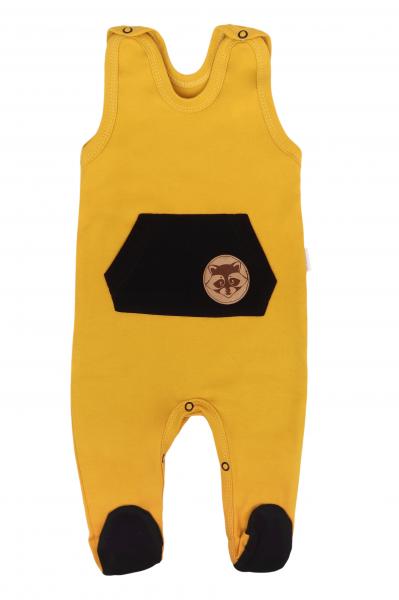 Mamatti Dojčenské dupačky Mýval - horčicové-#Velikost koj. oblečení;50 (0-1m)