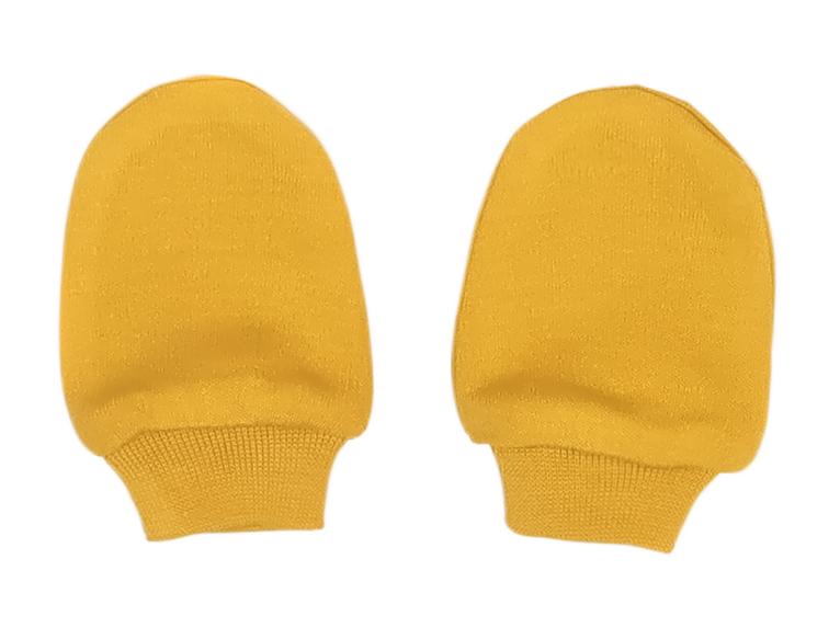 Mamatti Dojčenské rukavičky Mýval - horčicová