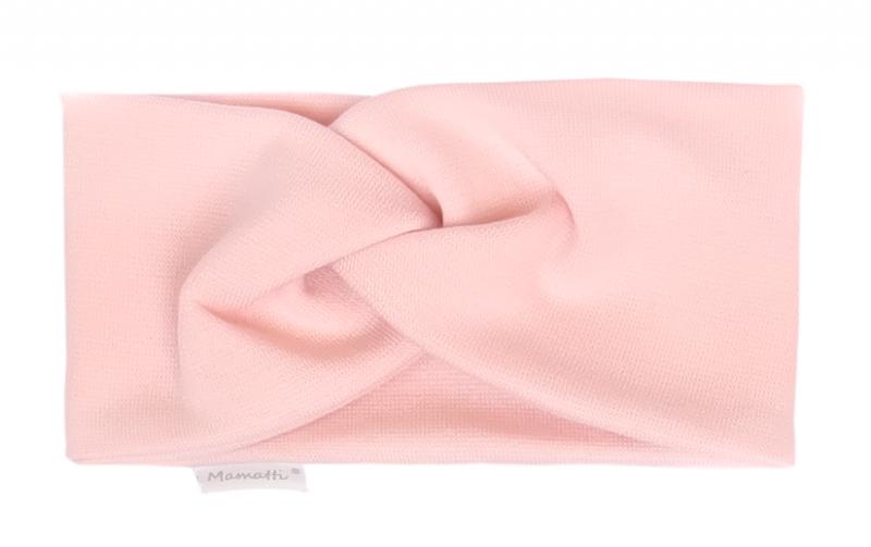 Mamatti Detská čelenka Kvetinka - svetlo ružová-#Velikost koj. oblečení;0-1rok