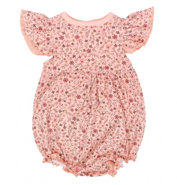 Mamatti Body s nohavičkami Kvetinka - ružové s potlačou-#Velikost koj. oblečení;68 (4-6m)