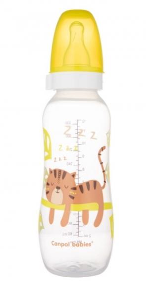 Canpol babies Fľaša s potlačou Tigrík 330 ml, žltá