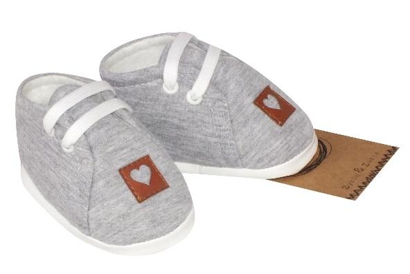 Z&Z Jarné dojčenske topánočky, capáčky - šedé, 6/12m-#Velikost koj. oblečení;6/12měsíců