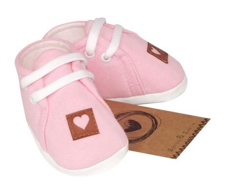 Z&Z Jarné dojčenske topánočky, capáčky - svetle růžové