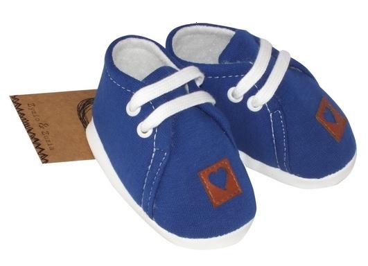 Z&Z Jarné dojčenske topánočky, capáčky - tmavě modrý