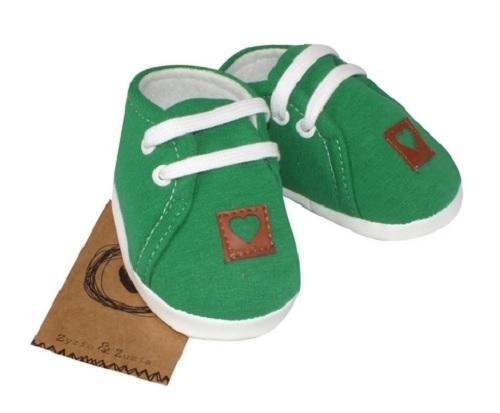 Z&Z Jarné dojčenske topánočky, capáčky - zelené