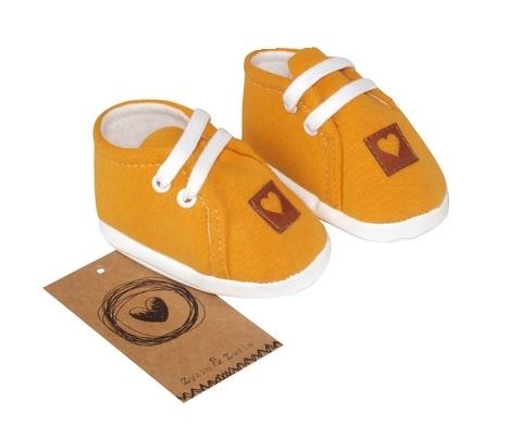 Z&Z Jarné dojčenske topánočky, capáčky - horčicové