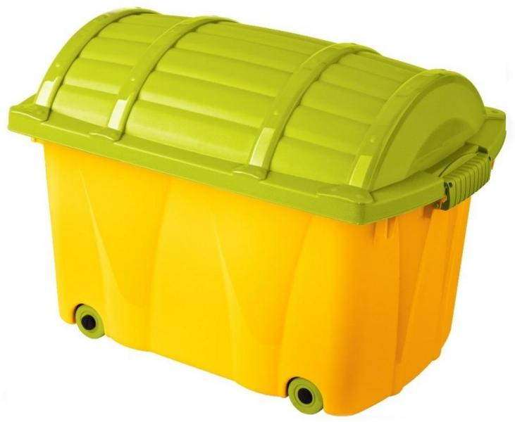 Keeeper Plastový box na kolieskach - 42l - žltý, sv. zelená