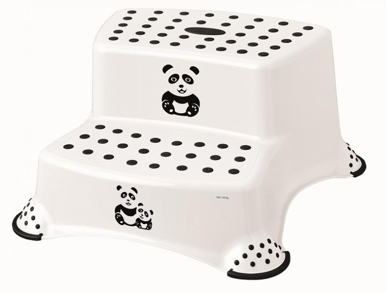Keeeper Stolička - schodíky s protišmykovou funkciou - Panda, biely