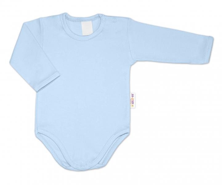 G-baby Dojčenské body dlhý rukáv - svetlo modré, veľ. 74