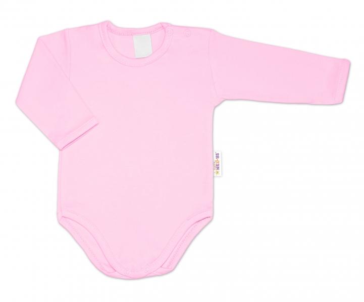 G-baby Dojčenské body dlhý rukáv - svetlo ružová, veľ. 80-#Velikost koj. oblečení;80 (9-12m)
