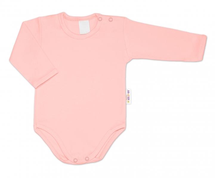 G-baby Dojčenské body dlhý rukáv - pudrová-#Velikost koj. oblečení;62 (2-3m)