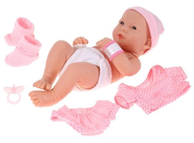Tulimi New Born bábika Lili s oblečením - ružová