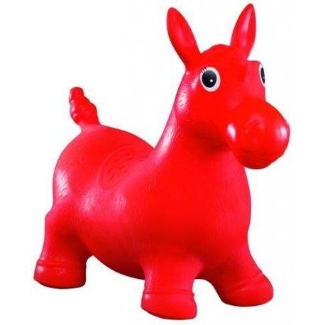 Tulimi Skákacie gumové zvieratko - Koník, červené
