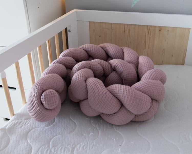Baby Nellys Mantinel pletený vrkoč Vafel - Magnólia, 320 x 16 cm