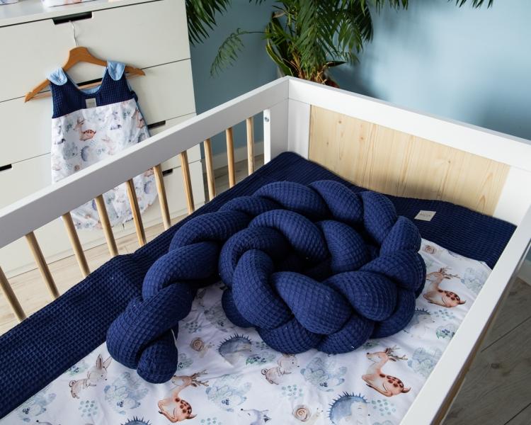 Baby Nellys Mantinel pletený vrkoč Vafel, Les