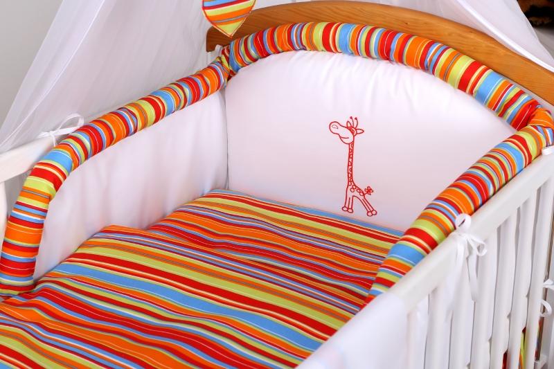 10-dielny set Žirafka - Prúžok pomaranč