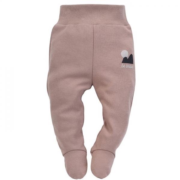 Pinokio Dojčenské polodupačky New day - hnedé-#Velikost koj. oblečení;56 (1-2m)