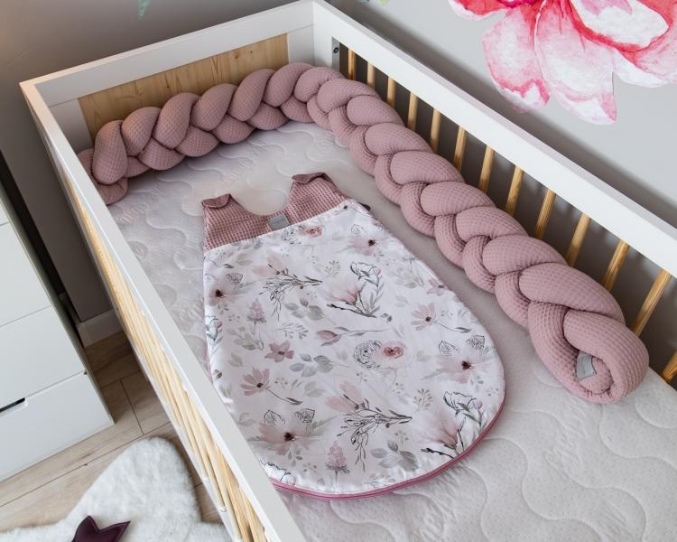 Baby Nellys Spací vak Vafel, bavlna LUX - Magnólia, 6-18m-#Velikost koj. oblečení;6/18měsíců