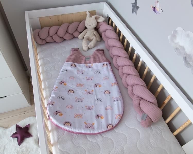 Baby Nellys Spací vak Vafel, bavlna LUX - Duha, 6-18m