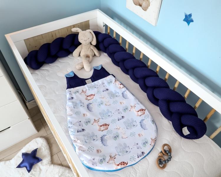 Baby Nellys Spací vak Vafel, bavlna LUX, Les - 6-18m