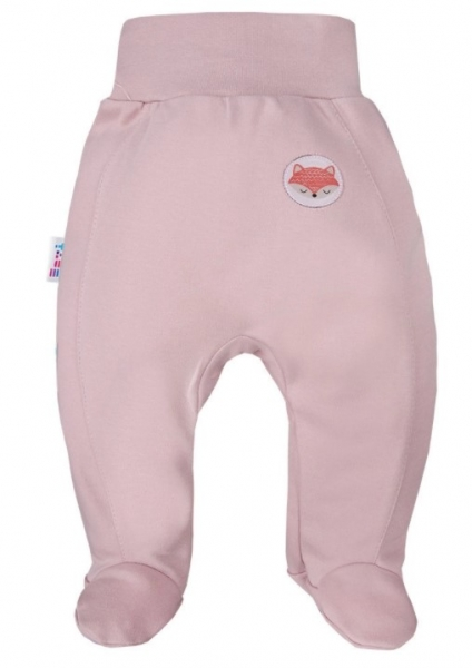 EEVI Dojčenské polodupačky Adventure - Liška, pudrové, veľ. 62-#Velikost koj. oblečení;62 (2-3m)