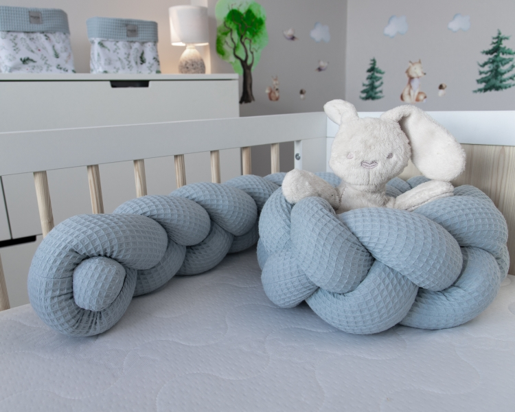 Baby Nellys Mantinel pletený vrkoč Vafel, Papradie, 320 x 16 cm