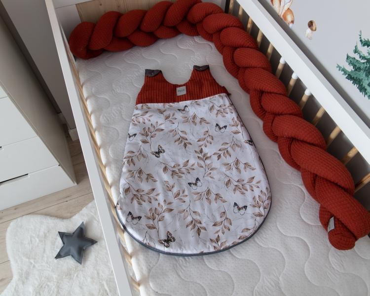 Baby Nellys Spací vak Vafel, bavlna LUX, Motýle, 6-18m