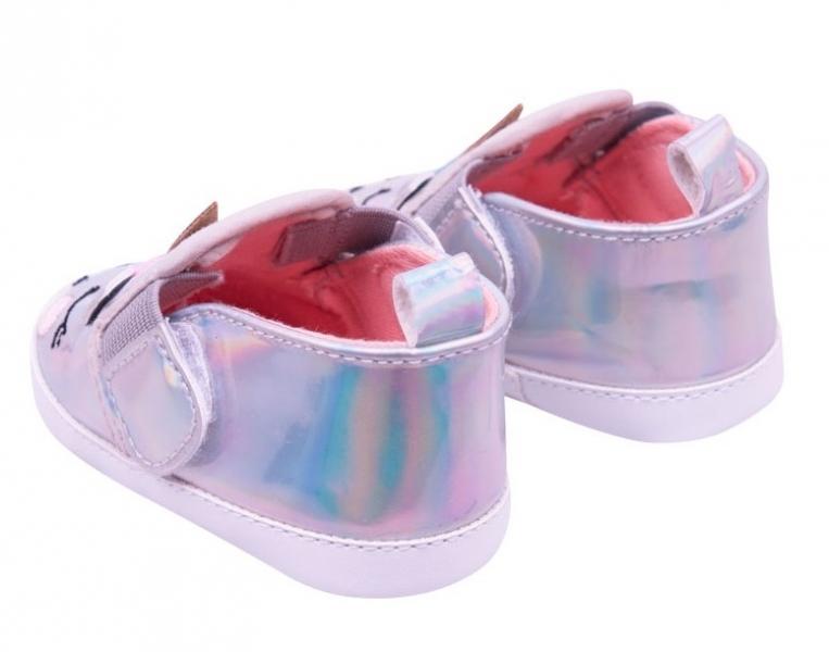 Dojčenské topánky / capáčky Jednorožec - sivé, 0 - 6 mes