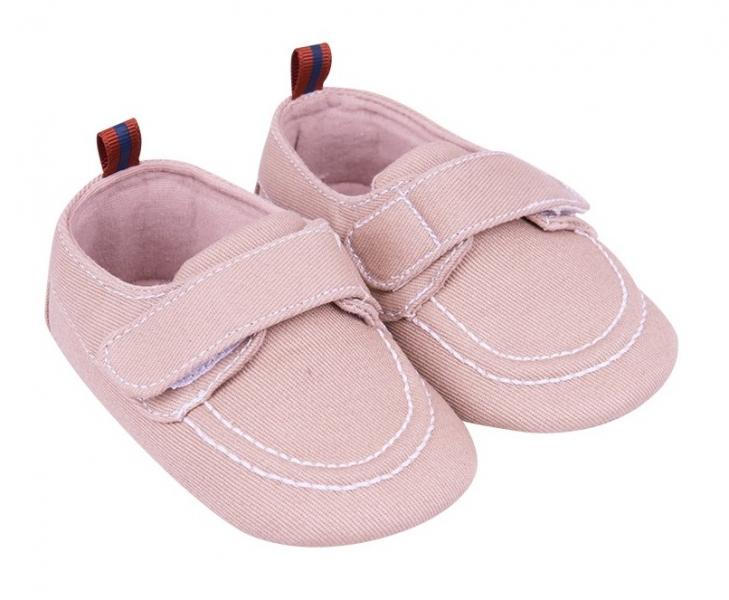 YO! Dojčenské topánky / capáčky, béžové-#Velikost koj. oblečení;0/6 měsíců