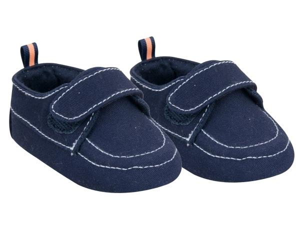 YO! Dojčenské topánky / capáčky, granatové-#Velikost koj. oblečení;0/6 měsíců