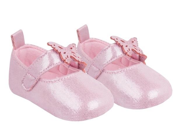 YO! Topánočky, balerínky trblietavé, Motýlik, ružové